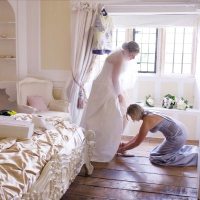 Bridal prep Brympton House