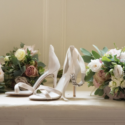 Brympton weddings bridal shoes