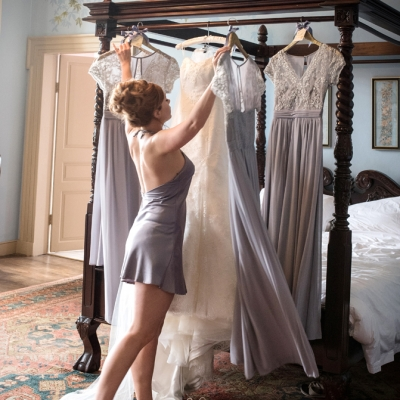 Bridal preparations Crowcombe Court wedding venue