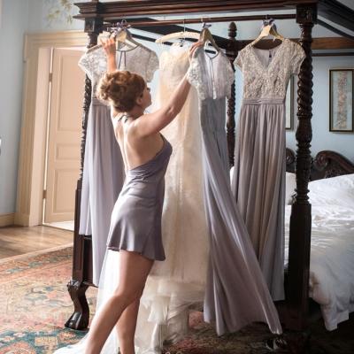 Bridal preparations Crowcombe Court wedding venue
