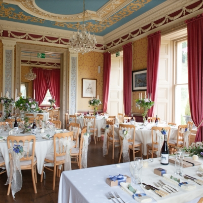 Crowcombe Court wedding dining room