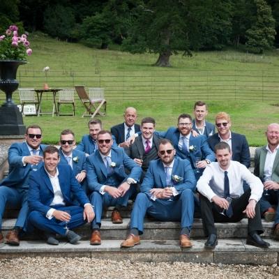 Wedding group photography Crowcombe Court