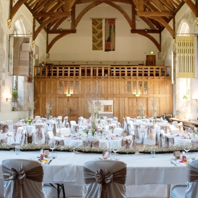 Dartington Hall wedding breakfast venue dining room