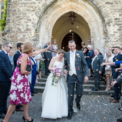 Confetti photo Wedding reception Dartington Hall
