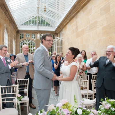 wedding ceremony Orangery Dillington House