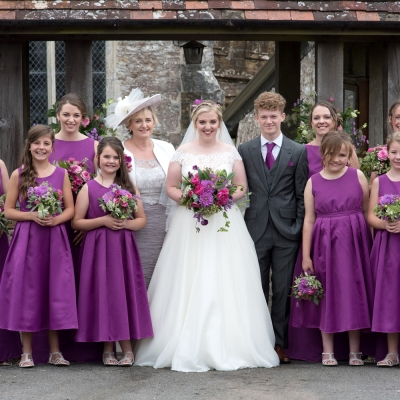 bridal-party-outside-church