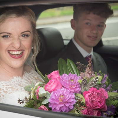 bride-in-car-photograph