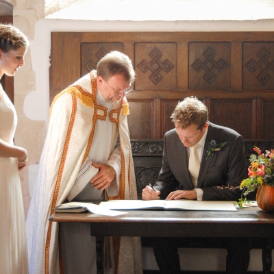 branscombe church wedding east devon