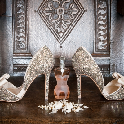 Glamorous bride accessories photography