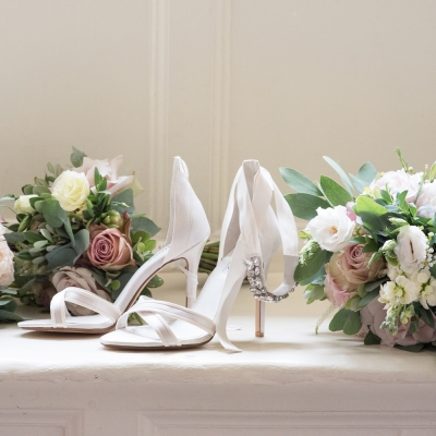 wedding shoes photography brympton house
