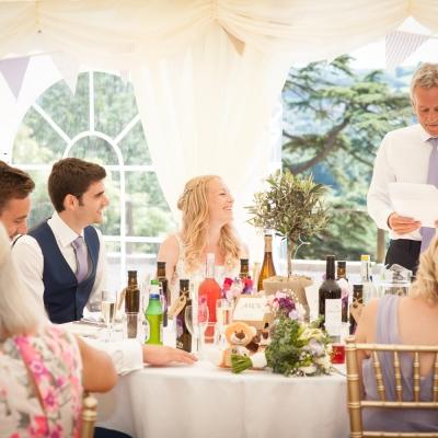 speeches tracey estate weddings